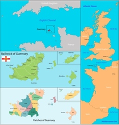 Guernsey map vector
