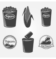 Popcorn logo or signs vector