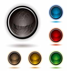 scribble button glow vector image
