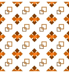 Seamless repeating pattern of brown squares vector