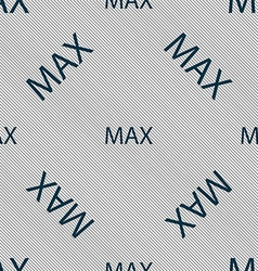 Maximum sign icon seamless pattern with geometric vector