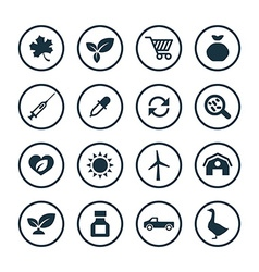 Agriculture farm icons universal set vector