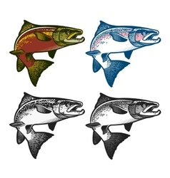 Fishing emblems labels and design elements vector