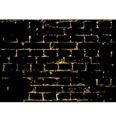 Brick wall gold texture pattern white abstract vector