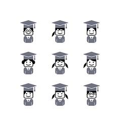 Academic college student avatar vector