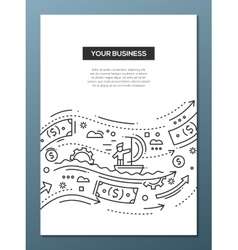 Your business - line design brochure poster vector