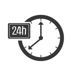 Time and clock isolated icon vector