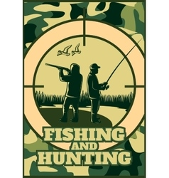 Hunting khaki poster vector