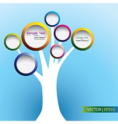Abstract of tree label concept design vector image