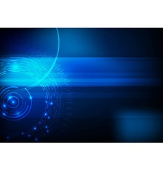 Blue hi-tech computer background vector image