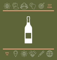bottle of wine icon vector image