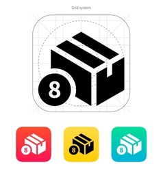 Box with number icon vector image vector image