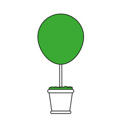 Bush plant in pot icon image vector