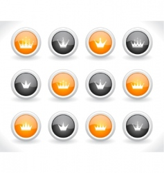 buttons for web with crowns vector image