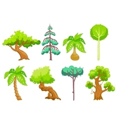 Cartoon Trees clip art vector image vector image