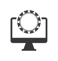 Chip computer casino vegas vector