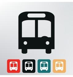 City bus icon vector