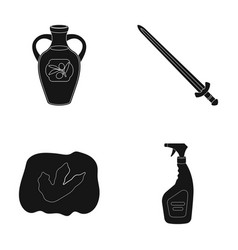 cleaning travel and or web icon in black style vector image vector image