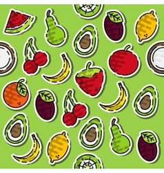 Colored fruits pattern vector image