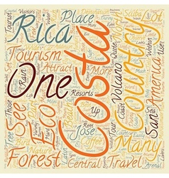 Costa rica a paradise for eco tourism text vector