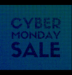 cyber monday sale promotional banner vector image vector image