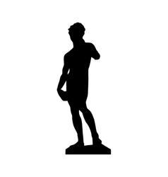 david michelangelo sculpture icon image vector image