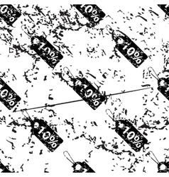 Discount pattern grunge monochrome vector