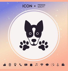 dog paw - logo symbol protect sign vector image