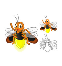 Firefly cartoon character vector