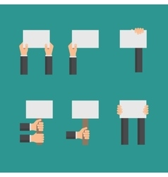 Flat business concept with hands holding vector