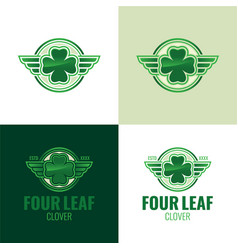 four leaf clover icon and logo vector image vector image