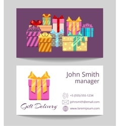 Gift delivery service business template vector