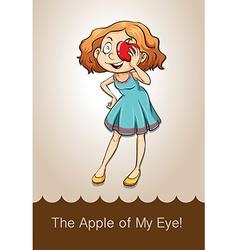 Idiom apple of my eye vector image vector image