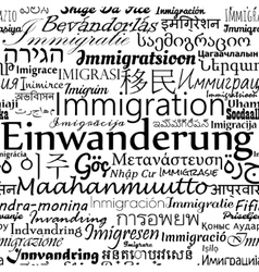Immigration languages newspaper vector image