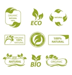Labels eco products logo vector image