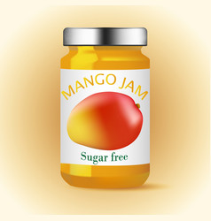 Mango glass jam design vector