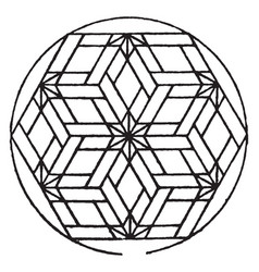 Modern hexagonal panel used for decorative vector