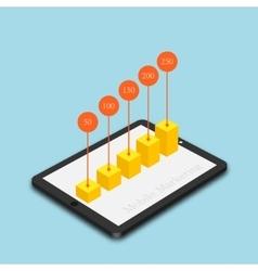 modern mobile marketing background vector image