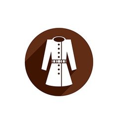 Overcoat icon isolated vector image