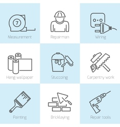 Repair home icons vector image vector image