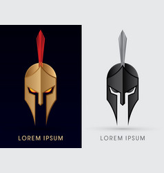 Roman or greek helmet spartan helmet head vector