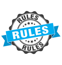 Rules stamp sign seal vector