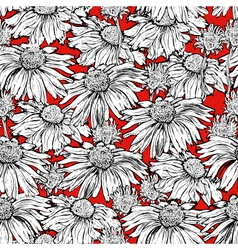 seamless pattern floral background vector image