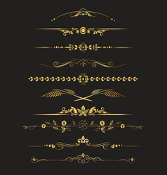 Set of ornamental vintage decorations vector