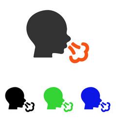 Sneezing flat icon vector