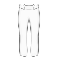 Mens pants icon black monochrome style vector