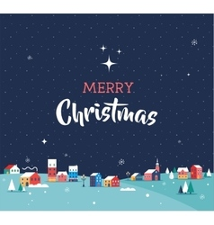 Merry christmas greeting card poster vector