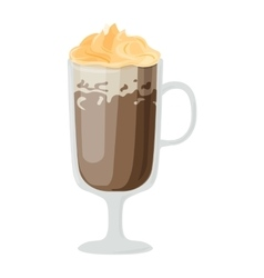 Coffee cups different cafe drinks ice vector