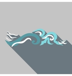 Ripple wave icon flat style vector