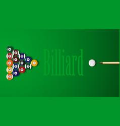 realistic 3d billiard balls with shadows vector image